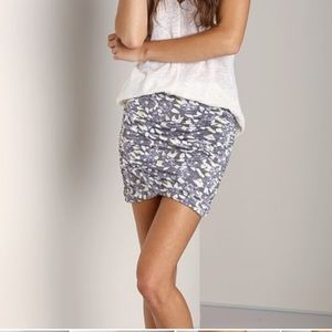 Free People Floral Essential Scrunchie Skirt M NWT